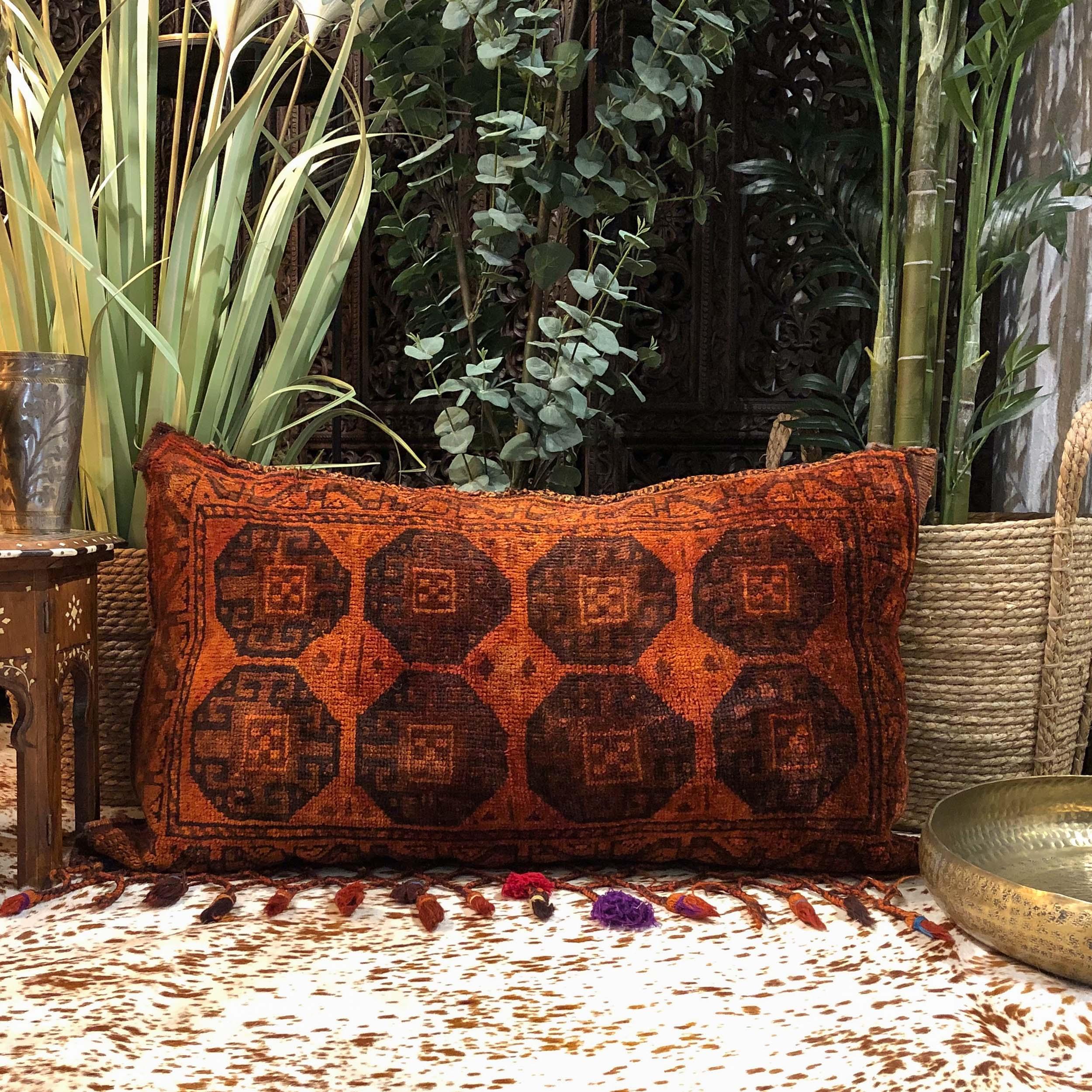 Nomad Floor Cushion in Burnt Orange