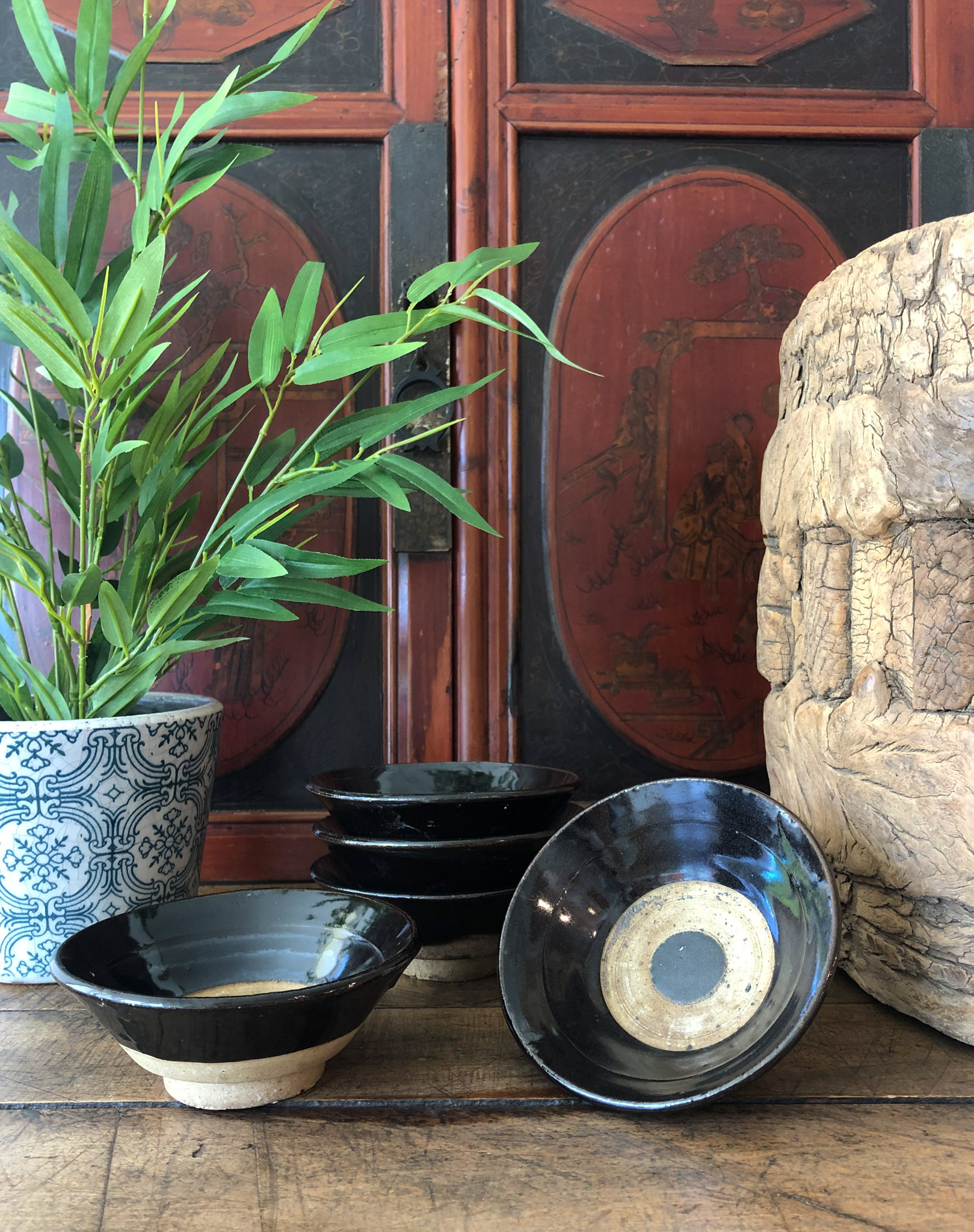 Vintage Chinese Tea Bowls