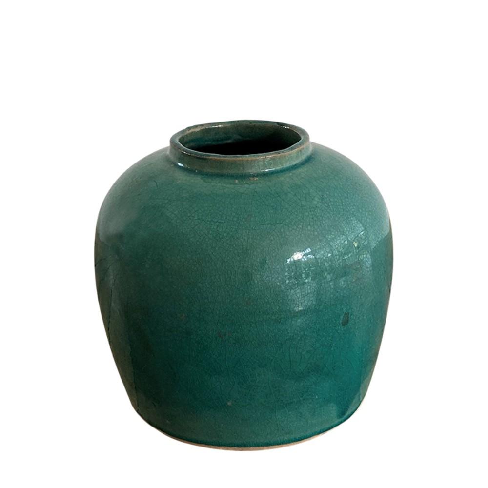 Sea Fern Glazed Pot