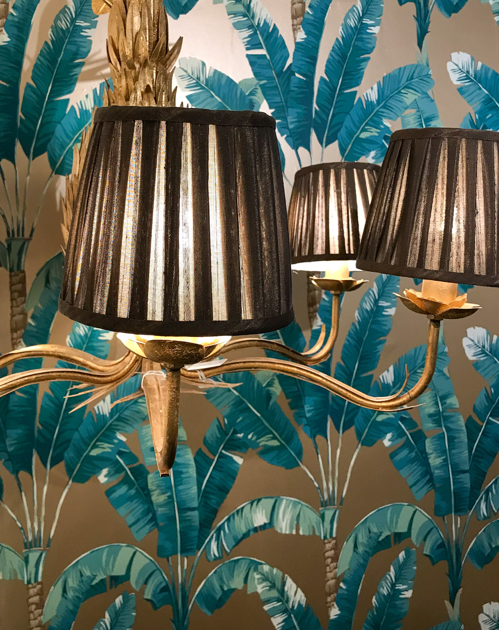 Pleated Chandelier Shade in Chocolate - Set of 6