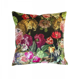 Cushion Flower Leopard 40 x 40