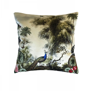Cushion Peacock Garden 40 x 40