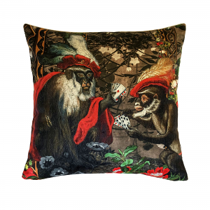 Cushion Gambling Monkeys 60 x 60