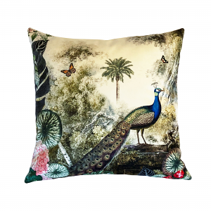 Cushion Peacock Garden 60 x 60
