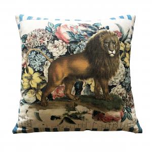 John Derian Manes Delft Cushion