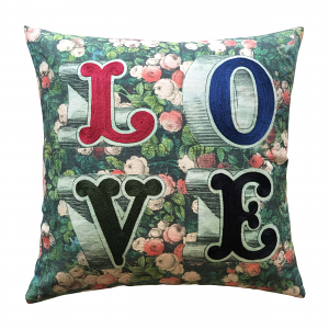 John Derian Love Forest Cushion