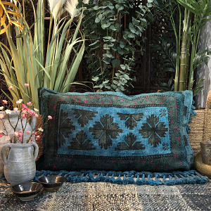 Nomad Floor Cushion in Inky Blue