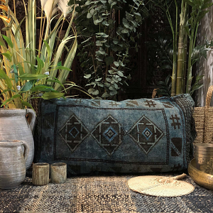 Nomad Floor Cushion in Denim Blue