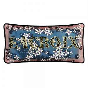 Christian Lacroix Cherry! Blue Denim Cushion