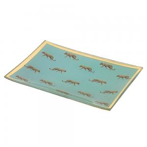 Blue Leopard Trinket Tray