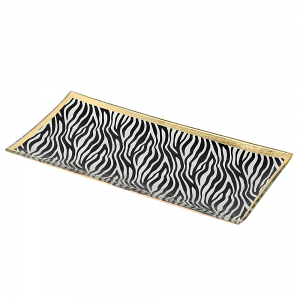 Zebra Print Trinket Tray