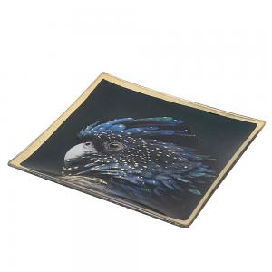 Midnight Parrot Trinket Tray