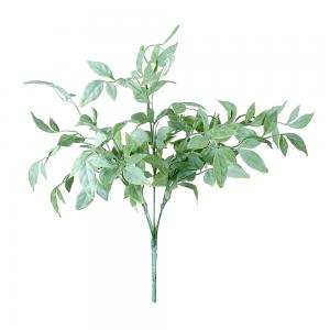 Flocked Green Leaf Bush Spray
