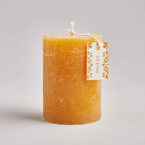 St Eval Amber Scented Pillar Candle