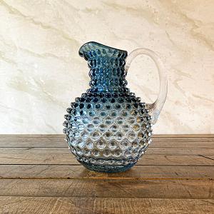 Hobnail Glass Jug Cobalt