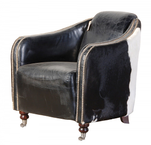 Cowhide Rocket Chair