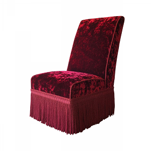 Clovelly Chair in Palazzo Red Velvet