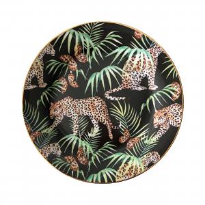 Jungle Leopard Dessert Plate Set – Box of Six