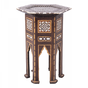 Antique Indian Hexagonal Side Table