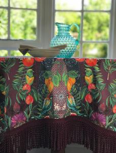 Deya Tablecloth Plum & Mint