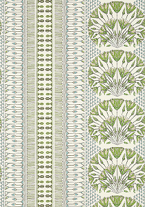 Anna French Cairo Wallcovering in Green and White