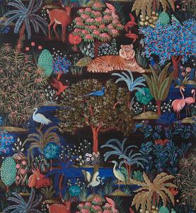 Pierre Frey Le Jardin Du Palais - Nuit Wallcovering